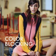 Larissa Marchiori in Color Blocking by Benjamin Kanarek